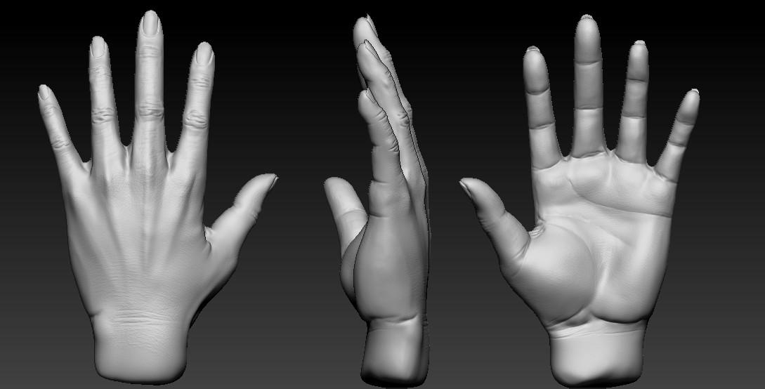 Mugunth 3D Artist - Daily practice in zbrush (Hand Sculpt)
