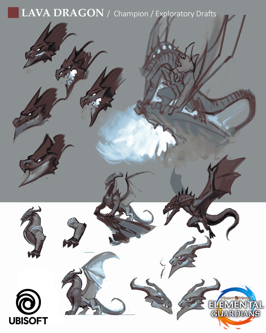 Koveck (Antonio Garcia) - Lava Dragon - Concept Art for