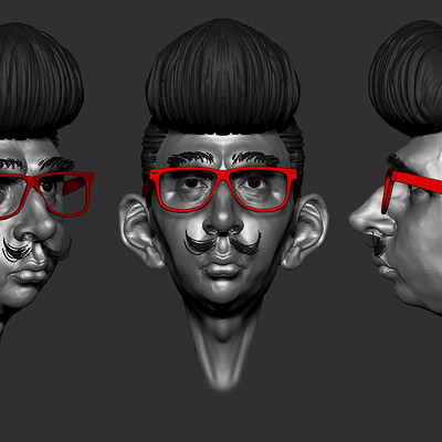 hipster /rockabilly character