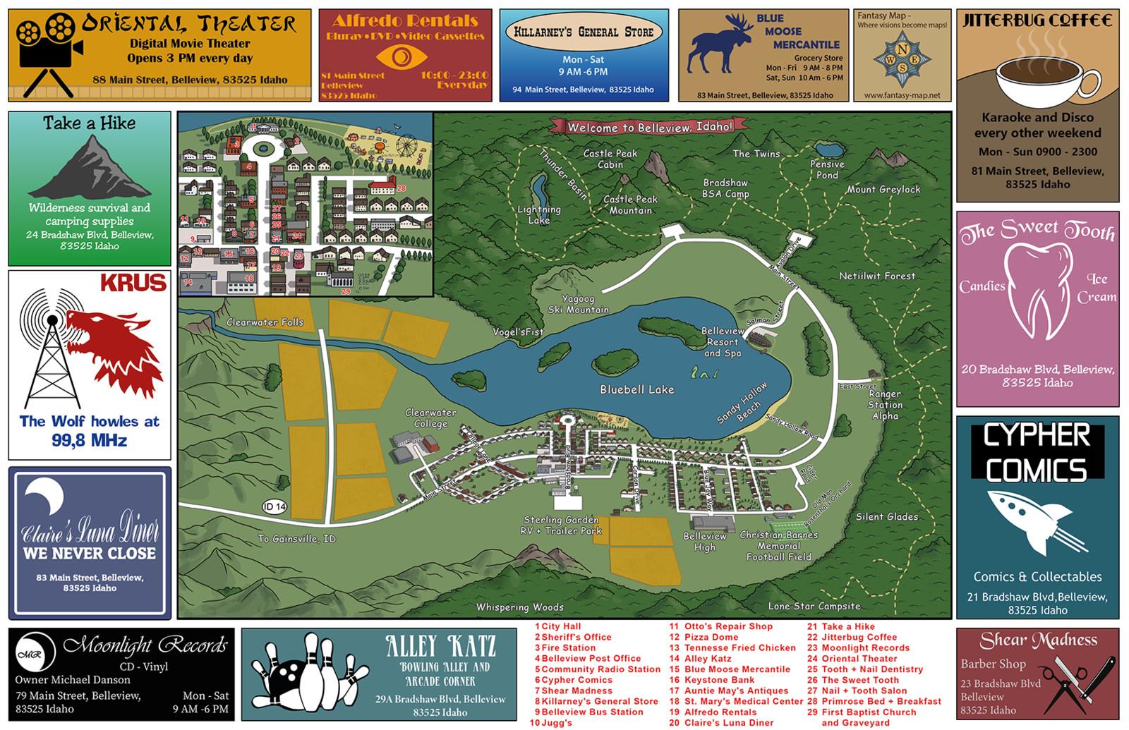 Belleview Tourist Map