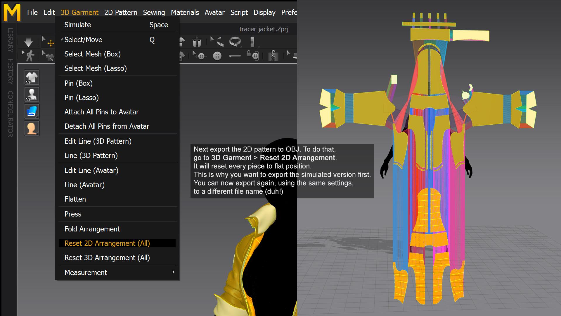 ArtStation - How to export from Marvelous Designer (like a