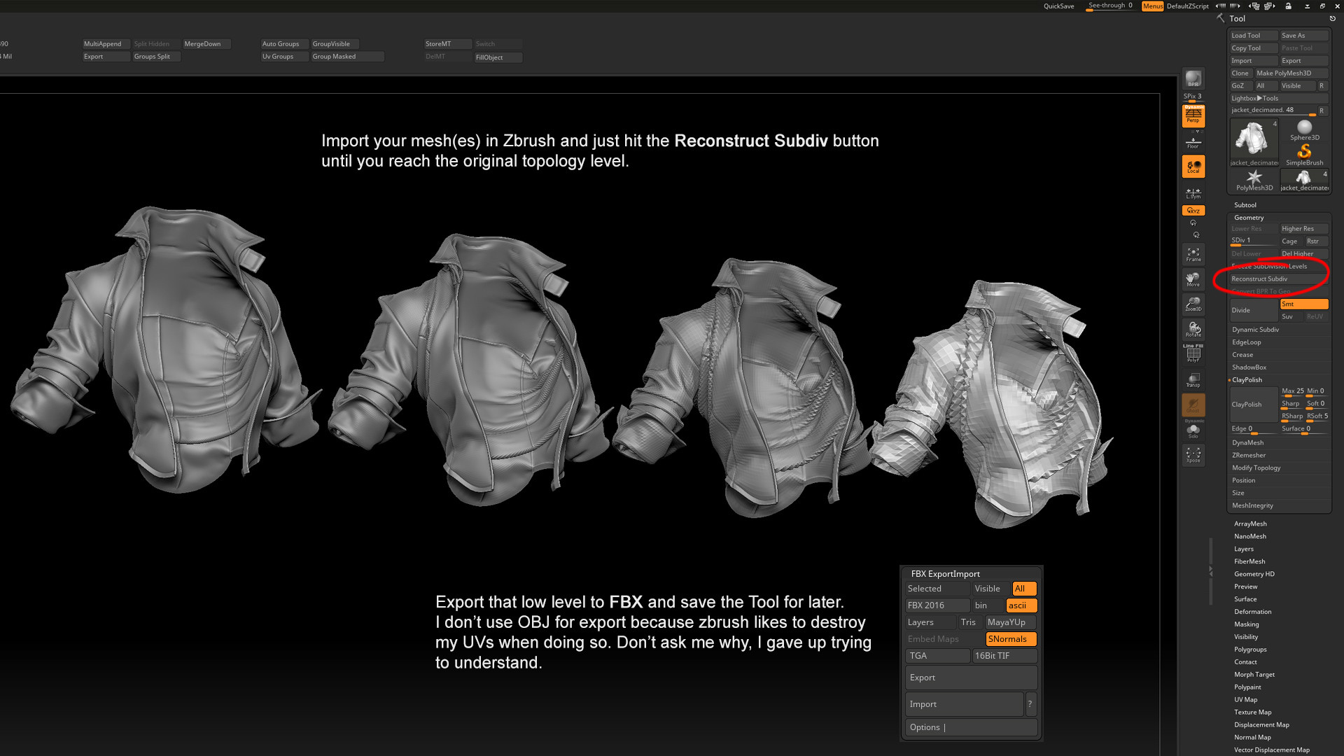 ArtStation - How to export from Marvelous Designer (like a