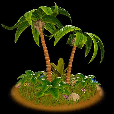 Stylized Jungle Foliage
