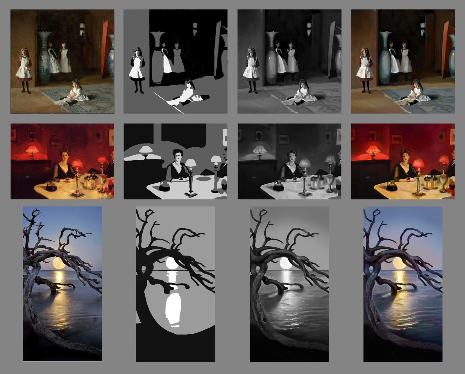 Tonal and color studies. John Singer Sargent John Singer Sargent Unknown photographer