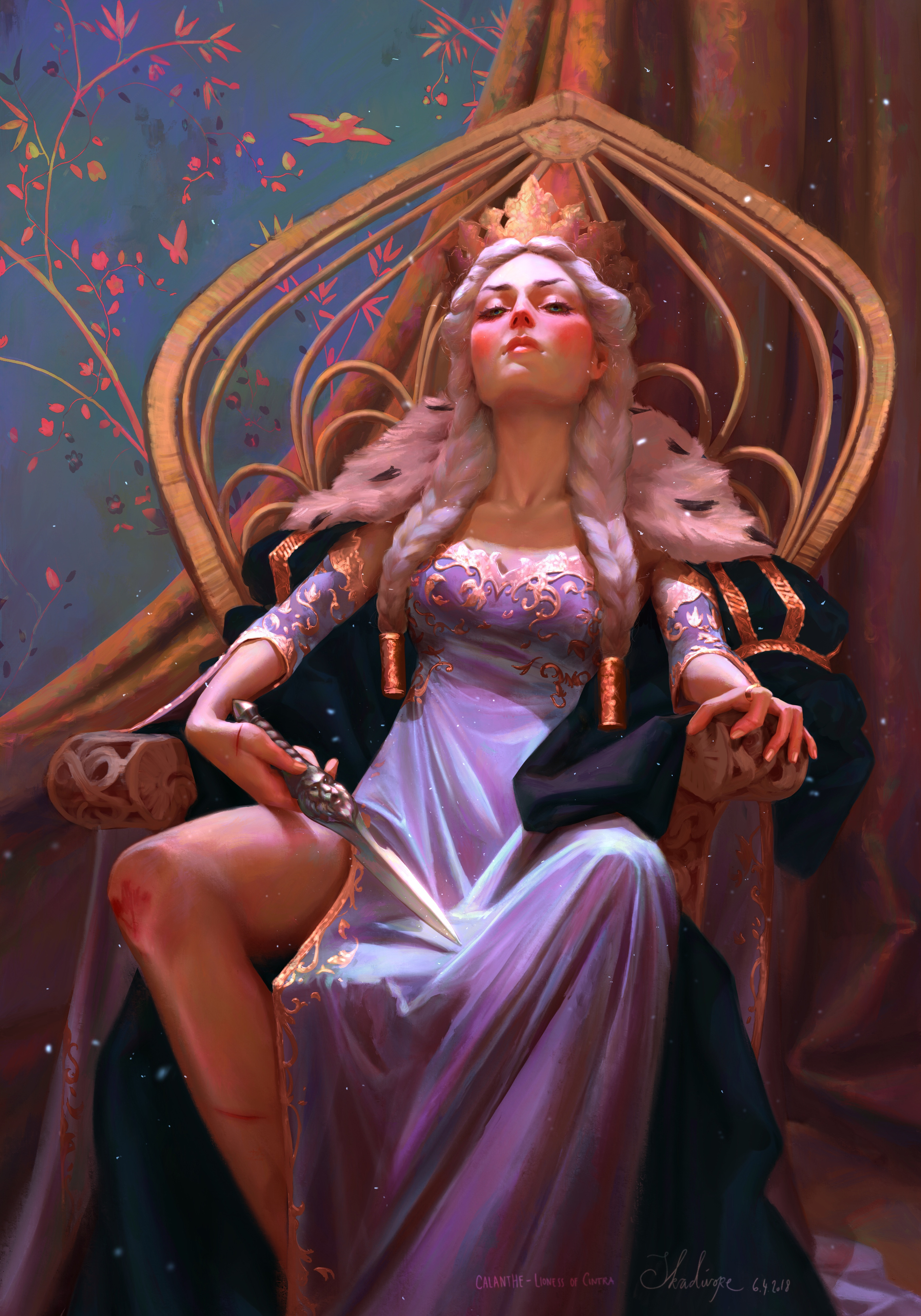 ArtStation - Calanthe - Lioness Of Cintra,