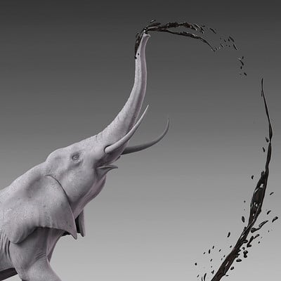 Jia hao africanelephant digitalsculpture 01