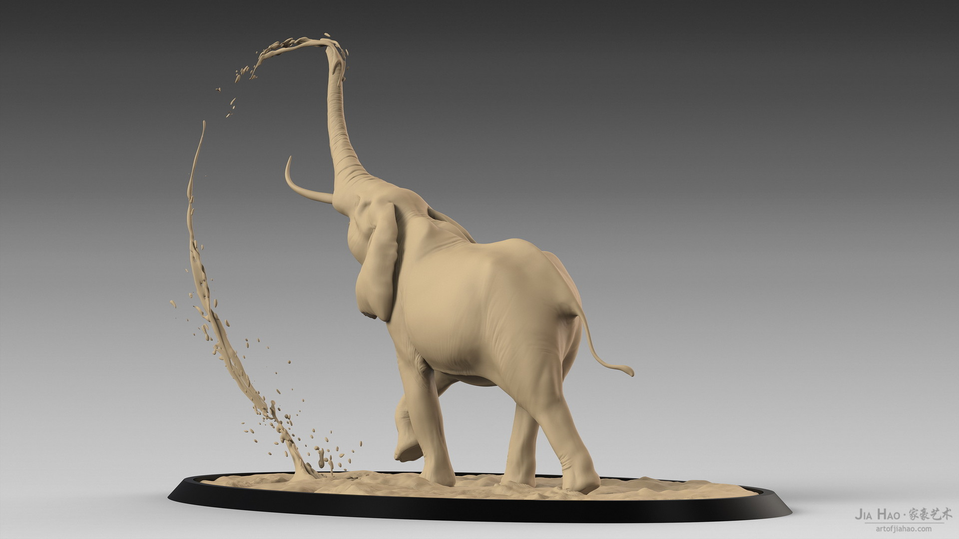 Jia hao africanelephant digitalsculpturea 05