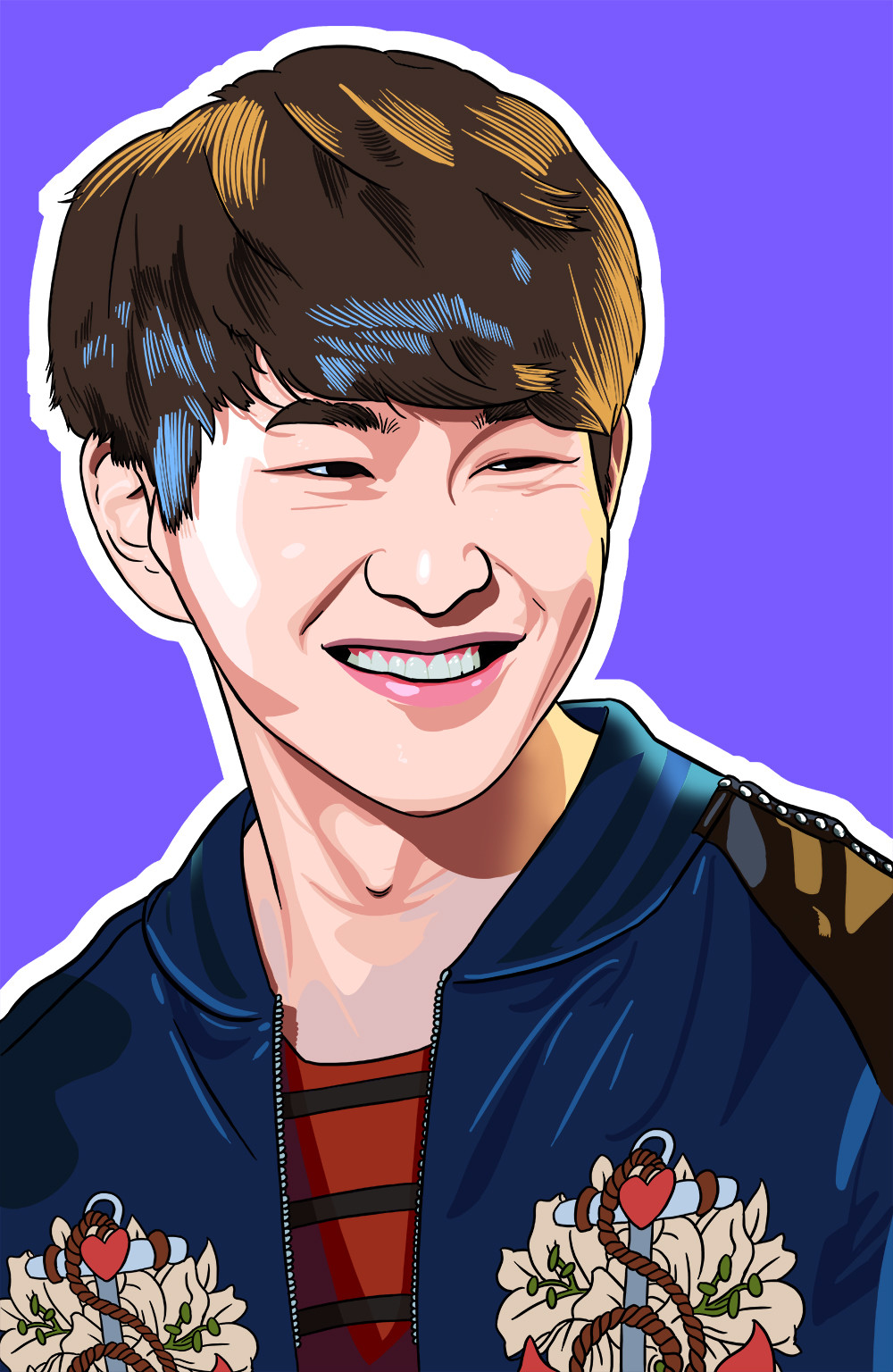 ArtStation - Digital Portrait Of SHINee Leader Onew
