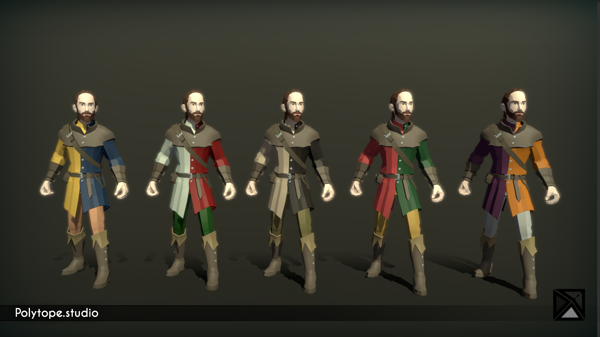 Polytope studio pt medieval lowpoly weapons soldier