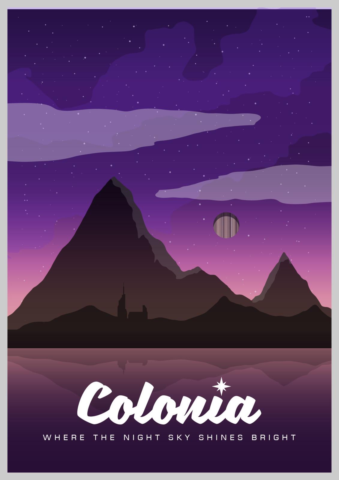 Elite Dangerous - Colonia Tourism Poster