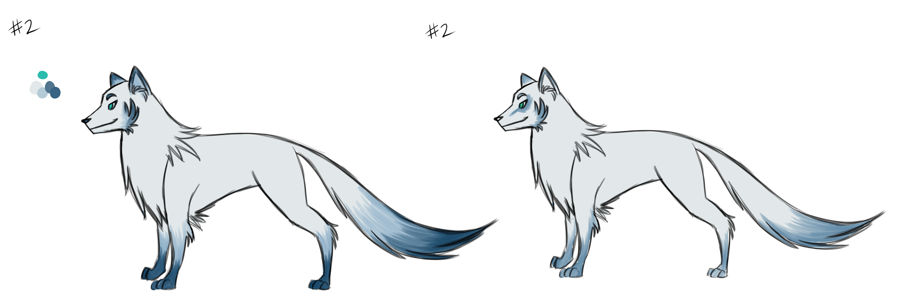 Concepts for Eiko the wolf