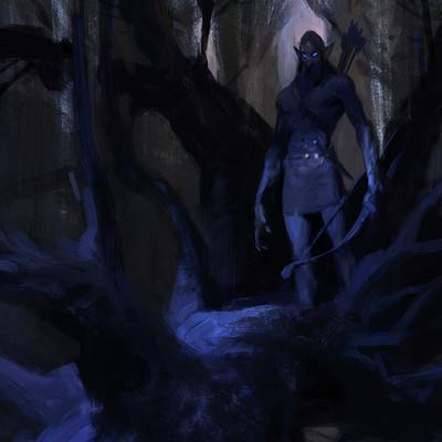 Dark Elf doodle