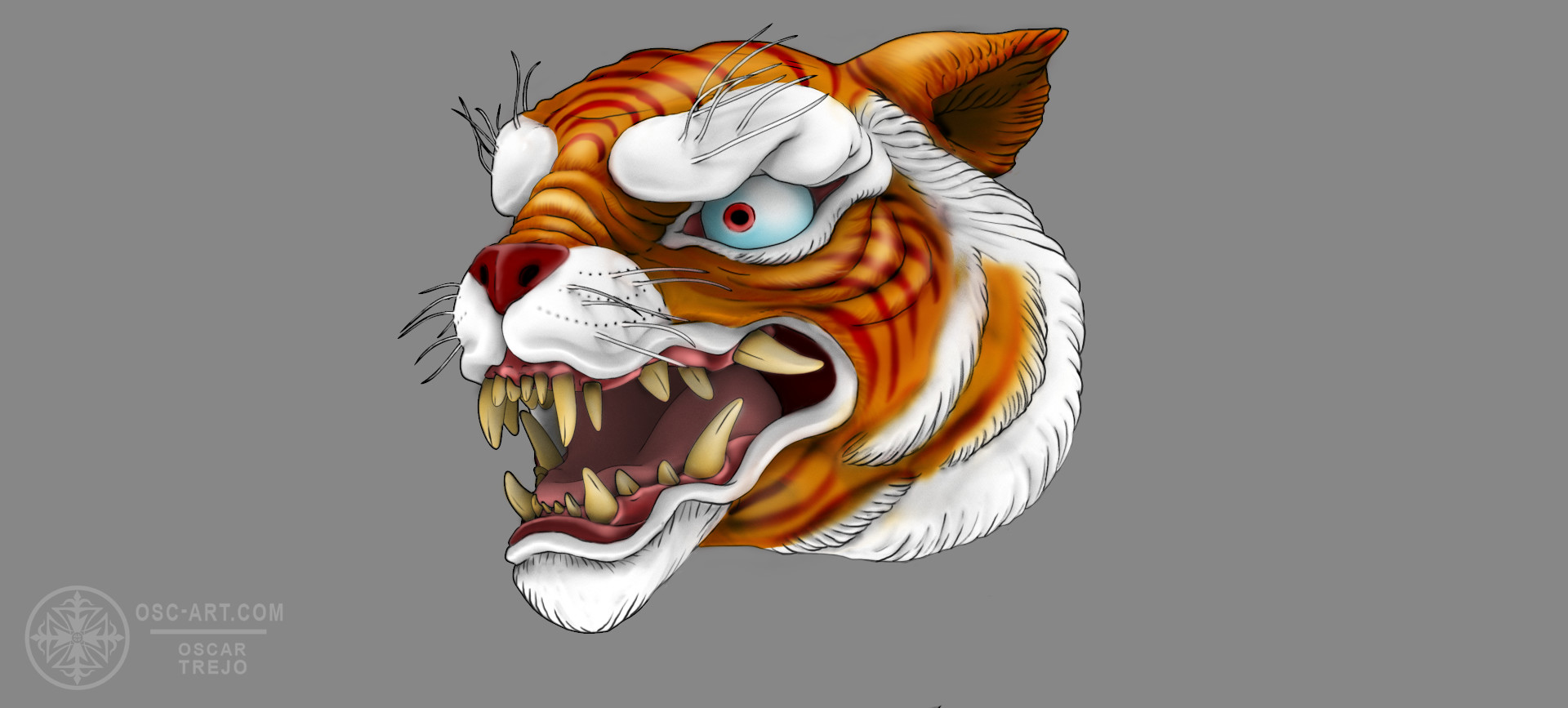 Oscar trejo tiger toon2