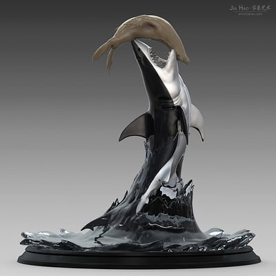 Jia hao greatwhiteshark digitalsculpture 01
