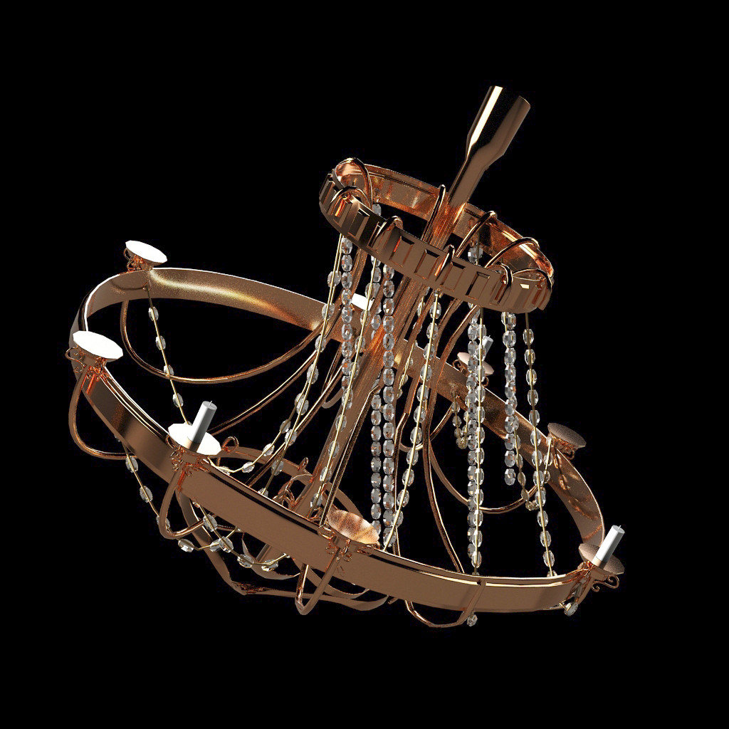 Fallen Chandelier by Andrej Dzajkovski