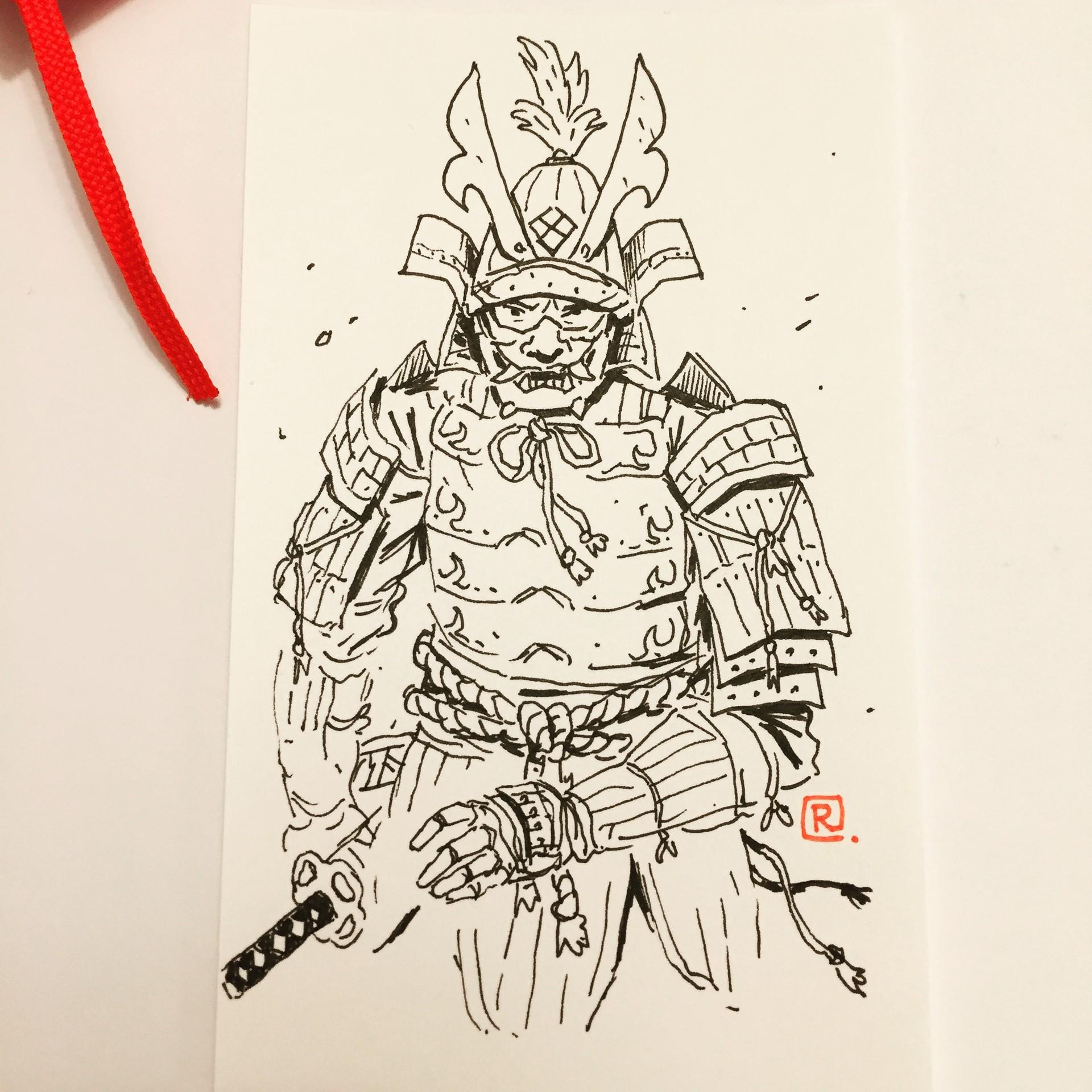 Artstation Samurai Sketches Darren Rawlings