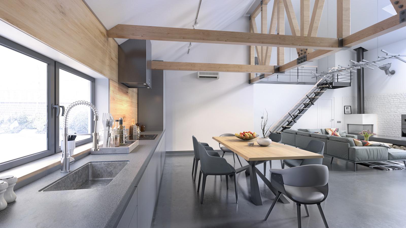 Modern Loft - Kitchen Area