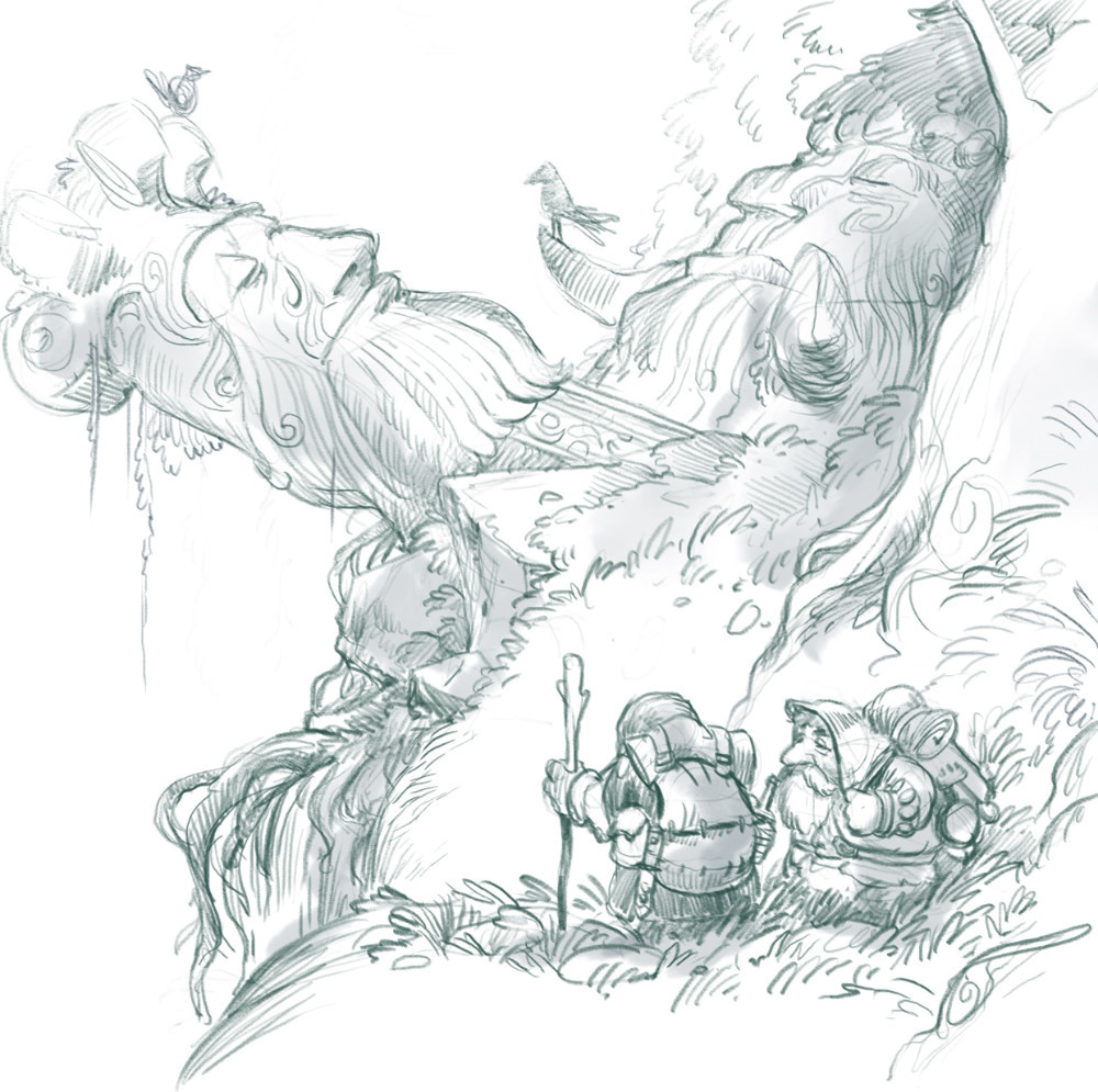 Questing era. Treasure hunters at elder's ruins.