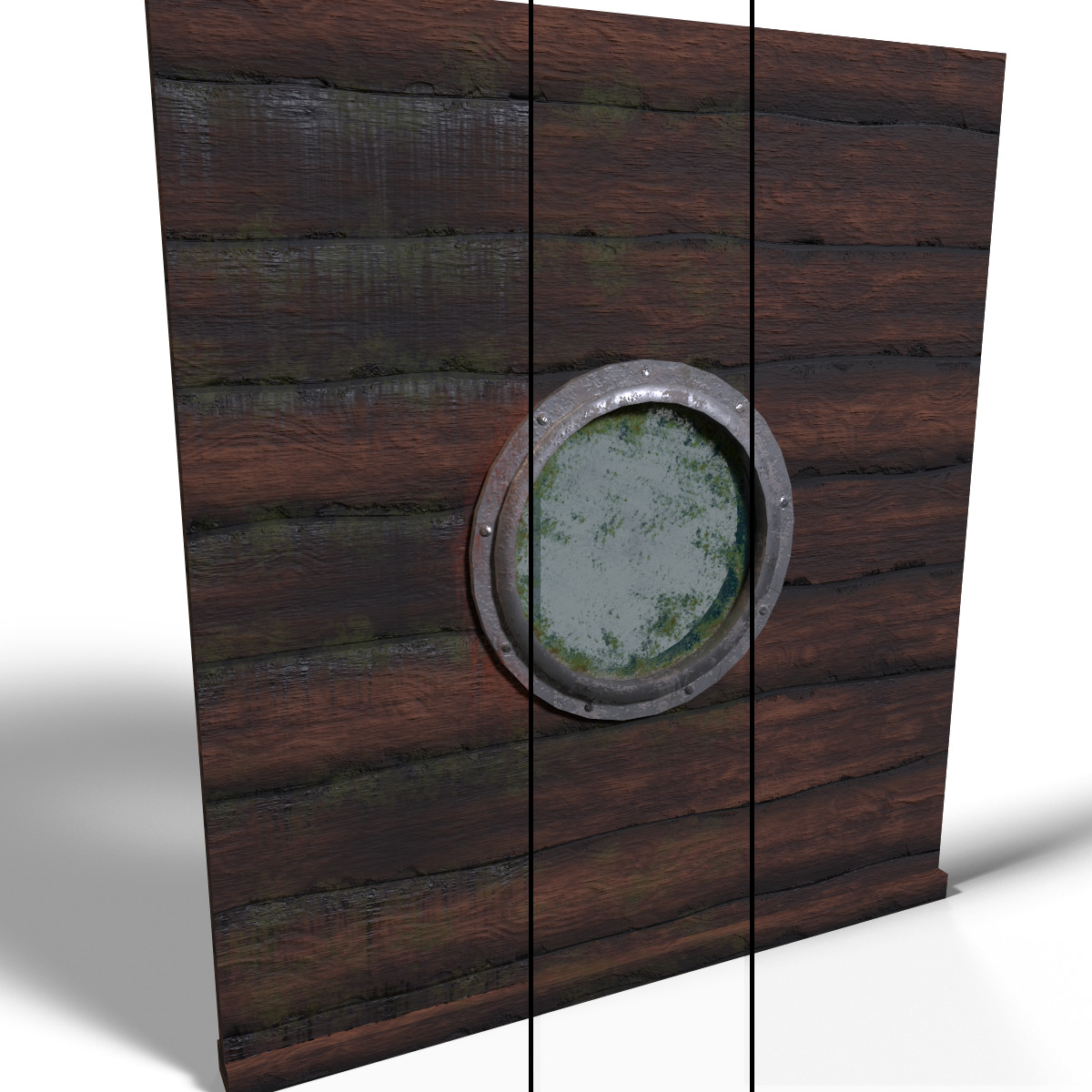 All assets 3 texture variations.  1. Moss and Caulking run off 2. Moss only 3. Clean texture