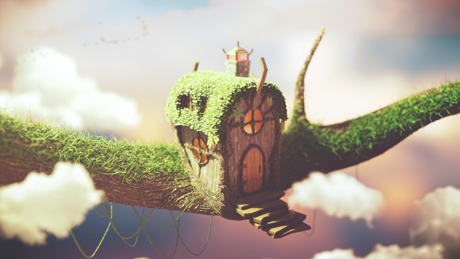 Fairy Tale Tree House (2016 me vs 2018 me)