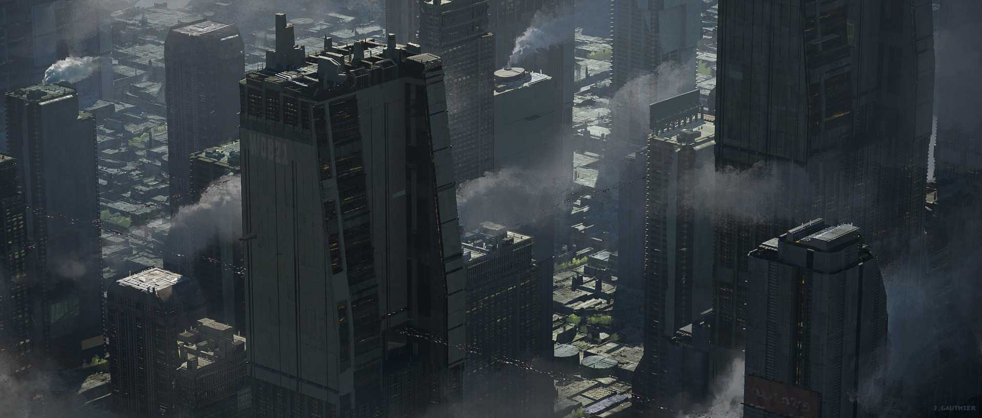 Julien gauthier scifi city 01