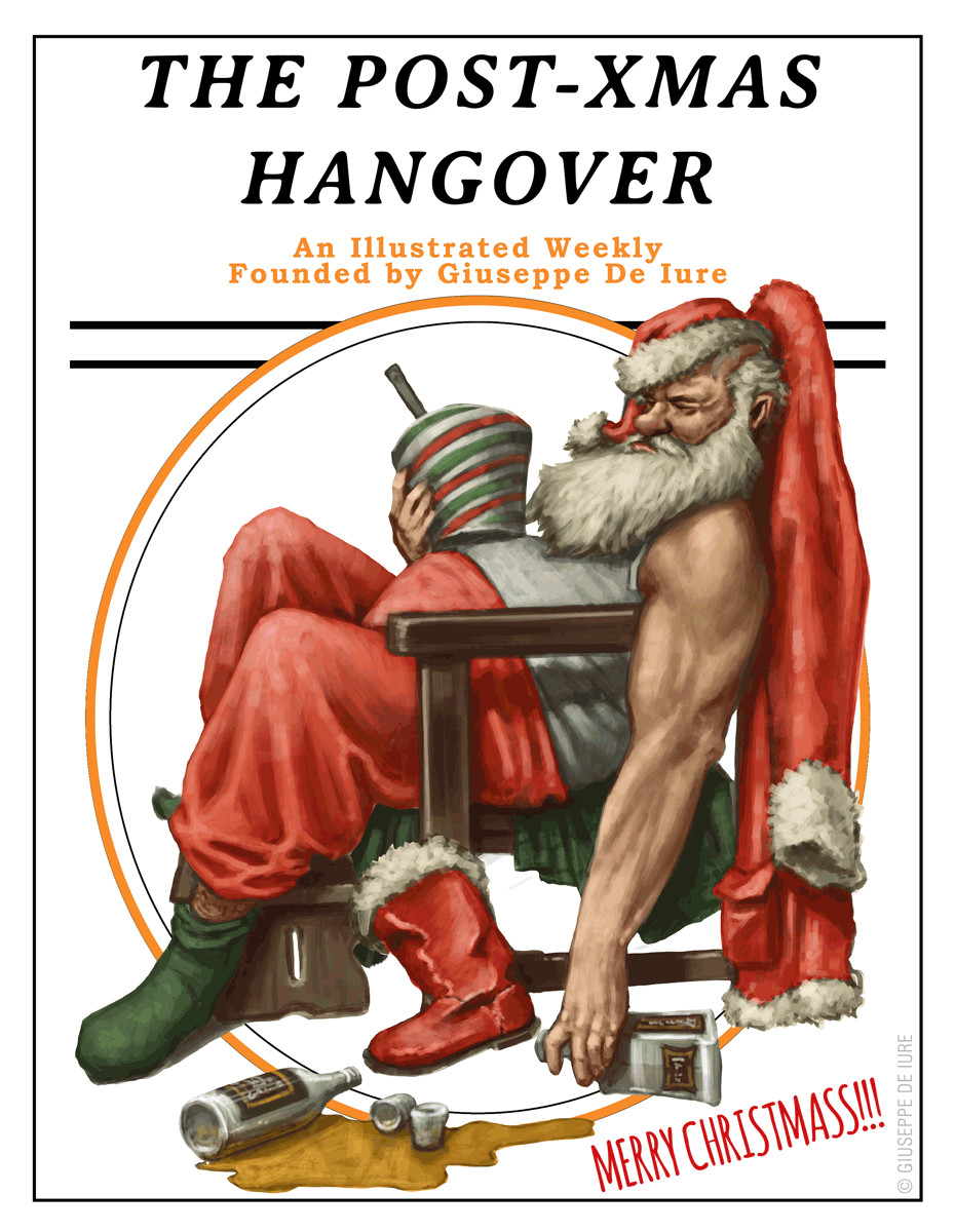 Giuseppe de iure fanart friday hangover santa web