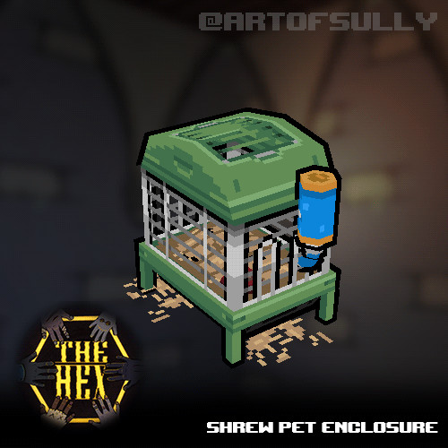 Shrew Pet Enclosure (asset for 'The Hex')