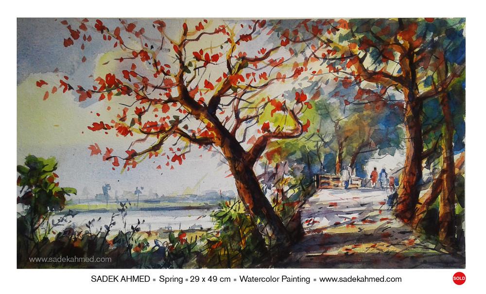 ArtStation - Beautiful Bangladesh, Watercolor by SADEK AHMED