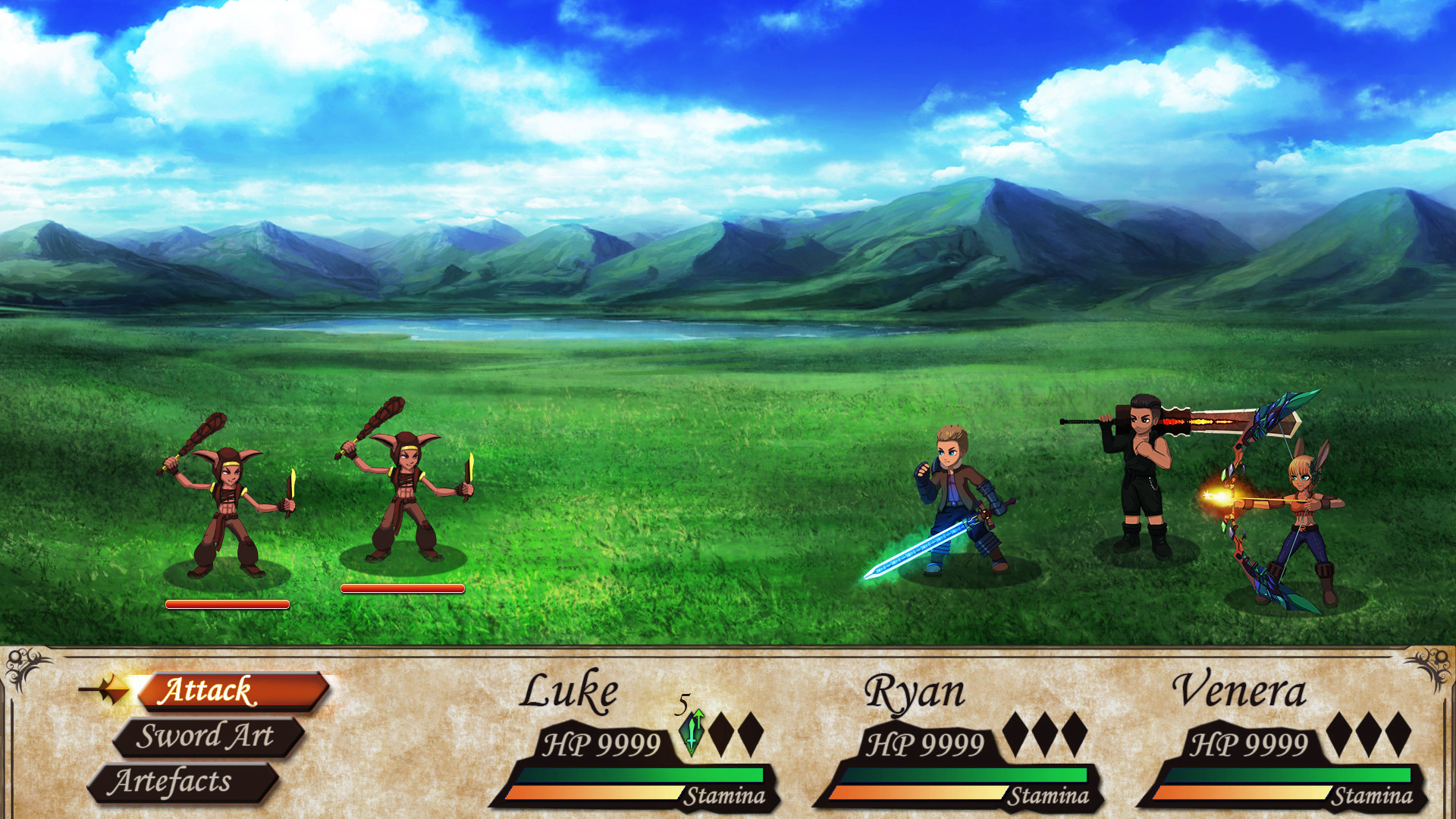 ArtStation - Battle System UI for 2D Turn-Based RPG Game
