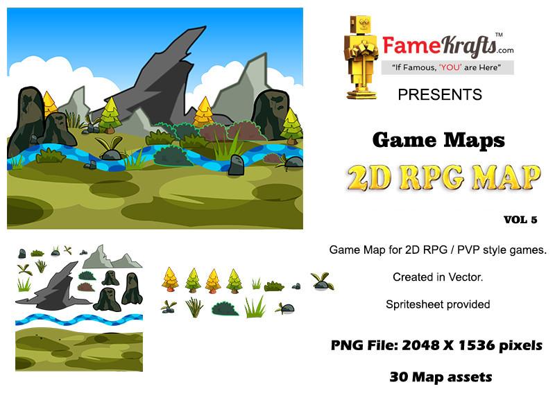 ArtStation - 2D RPG Map 5: Hanging Cliff, sunny kapoor