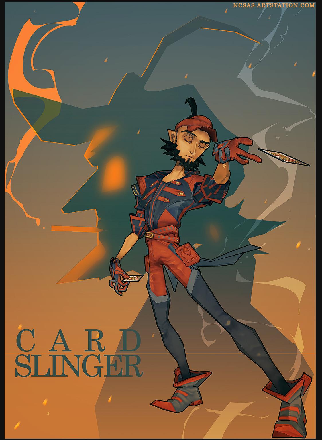 Cardslinger Slingin' cards in his full glory