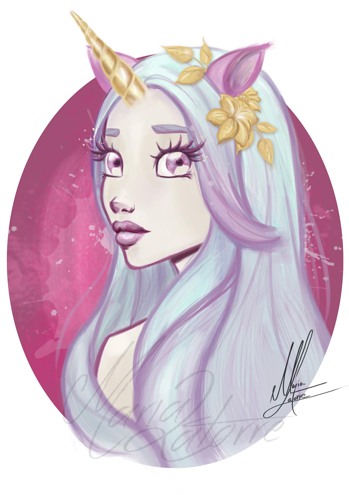 Artstation Unicorn Girl Maria Latorre Maria Latorre