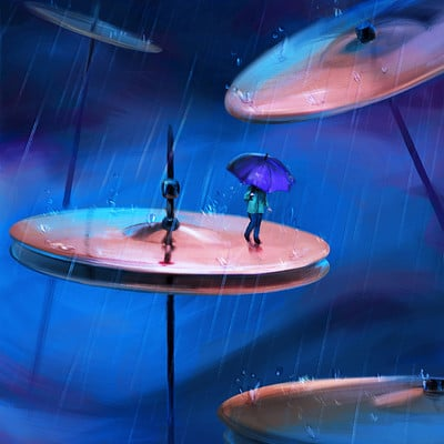 Sean hicks artstation rainfall