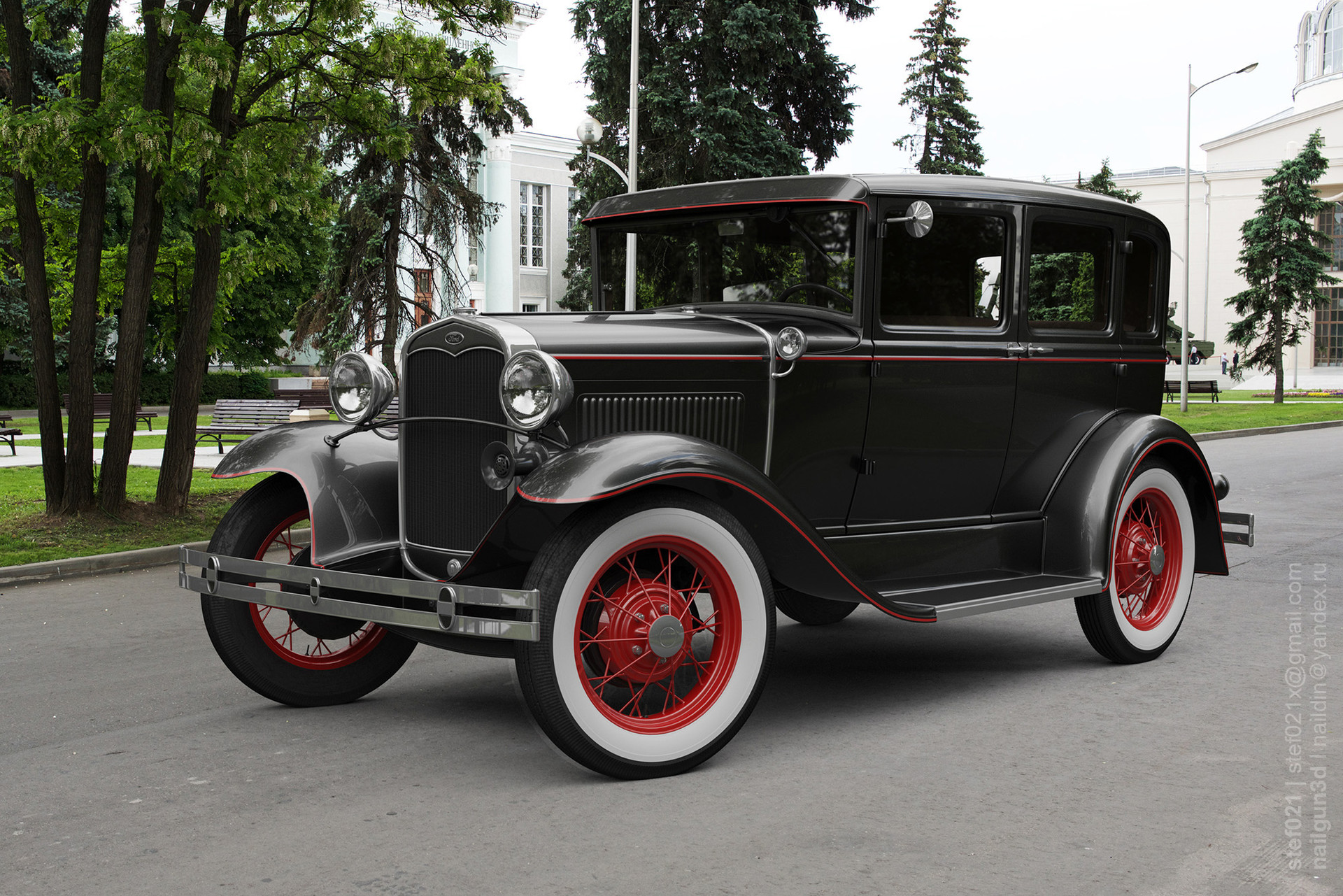 Nail khusnutdinov a0003 ford a fordor 1931 render 1