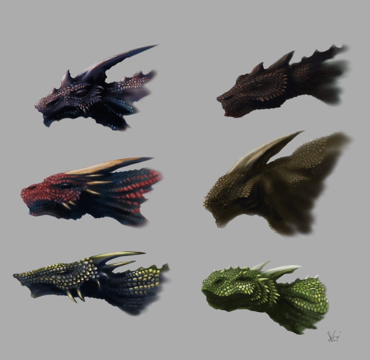 Creature heads