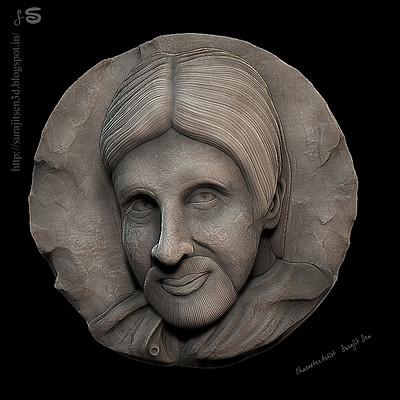 Surajit sen big b relief sculpt surajitsen 16042017