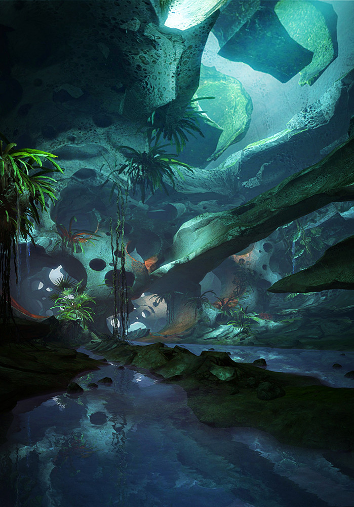 in-game screenshot of a Leyline environment in Guild Wars 2.