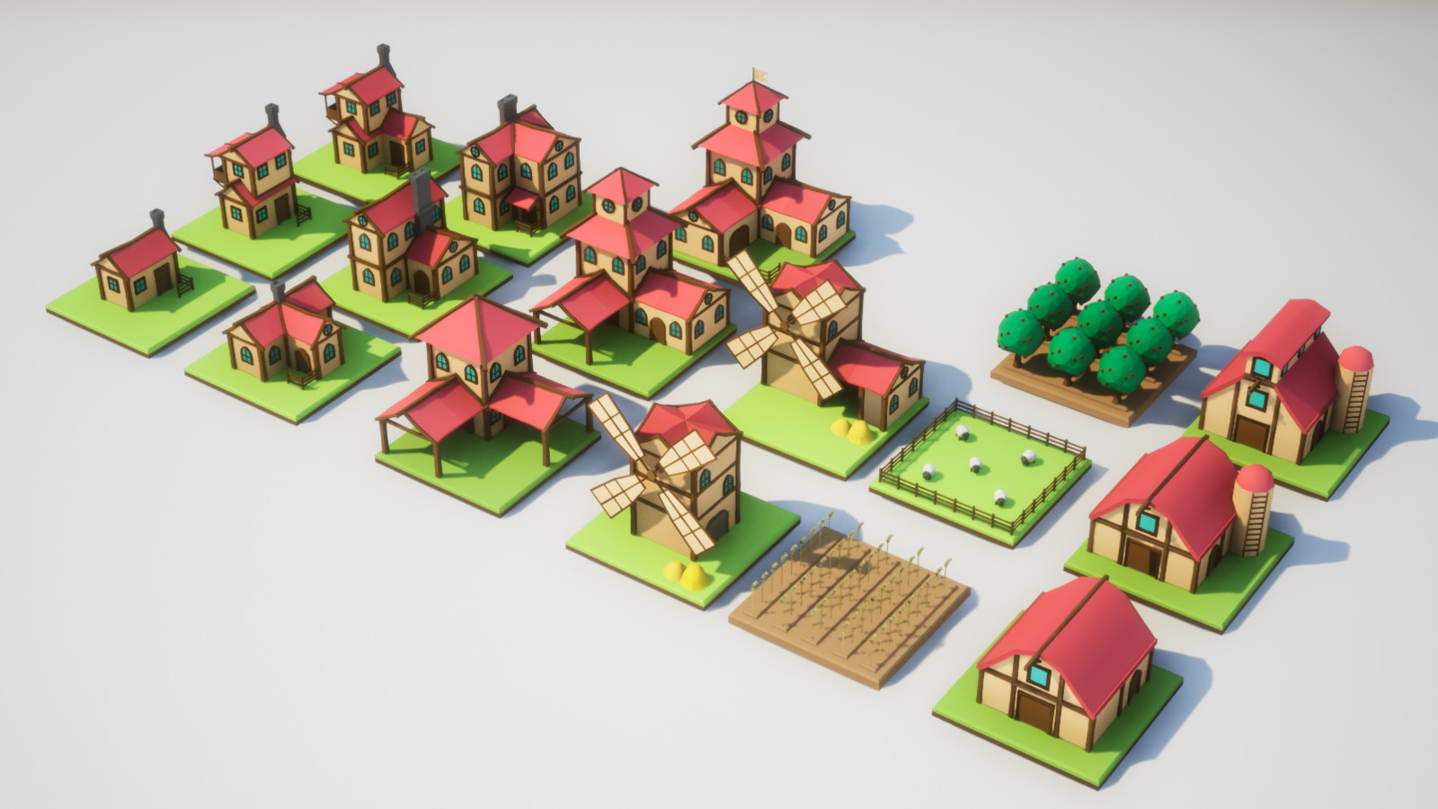 Houses, Crops and Lifestock