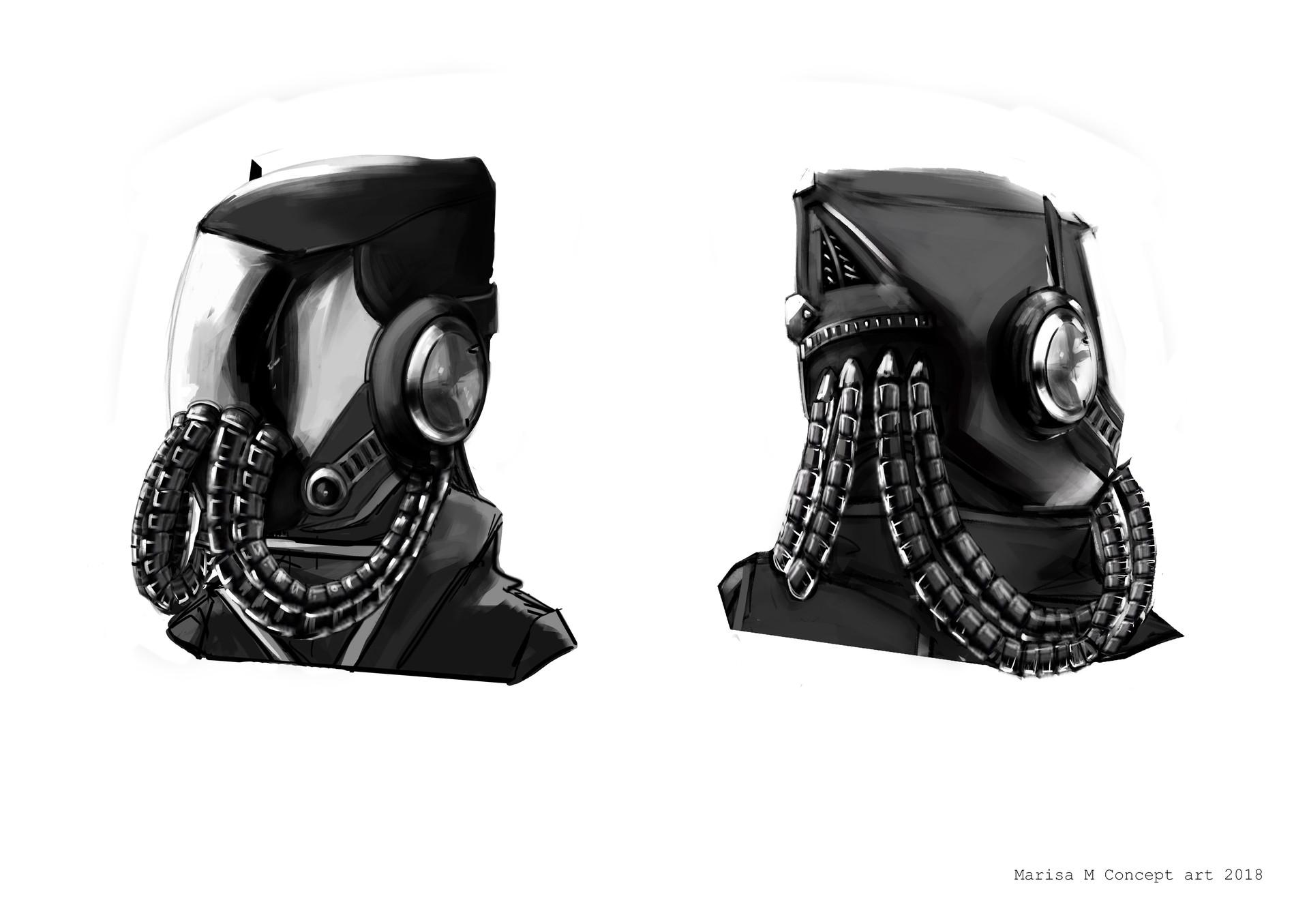 Marisa sbrii m wk2 helmet design rework