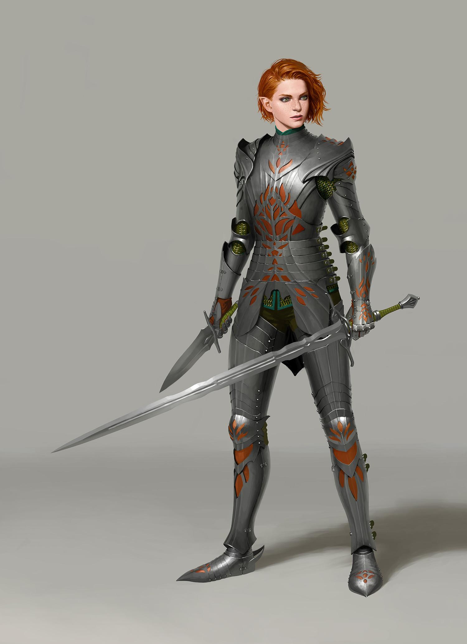 artstation elven knight un lee