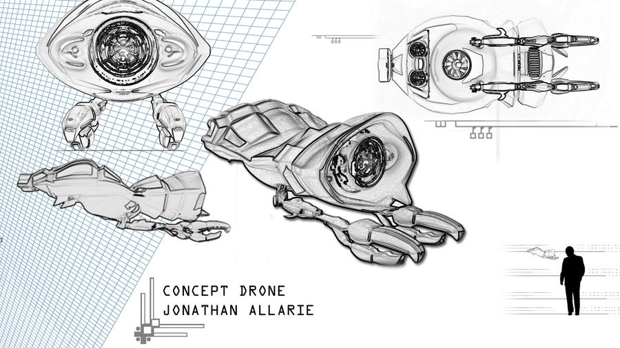 Jonathan allarie drone concept by jallarie d4oxa3t