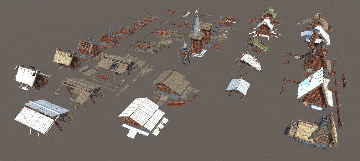 Houses and game assets