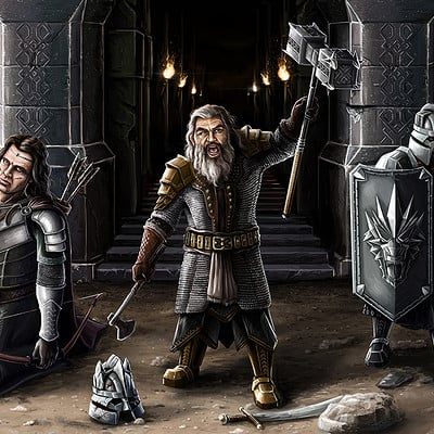 Pawel hudeczek dwarfs and human king