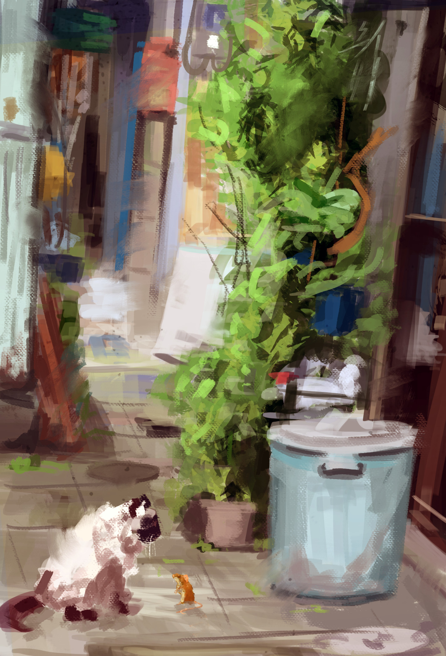 Jack dowell cat alley finished study