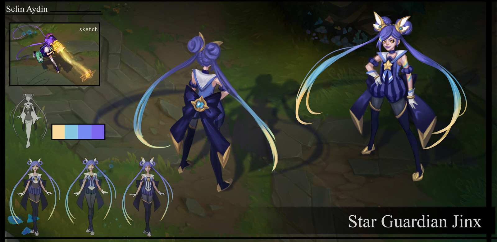 Star Guardian Jinx Project (Fan skin for LoL)