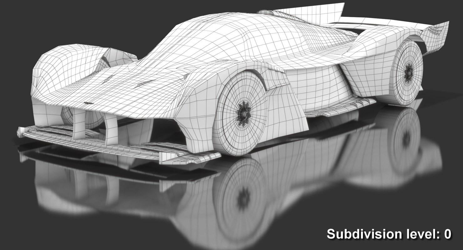Artstation Aston Martin Valkyrie Amr Pro 3d Model Oleksii Sergiyovych