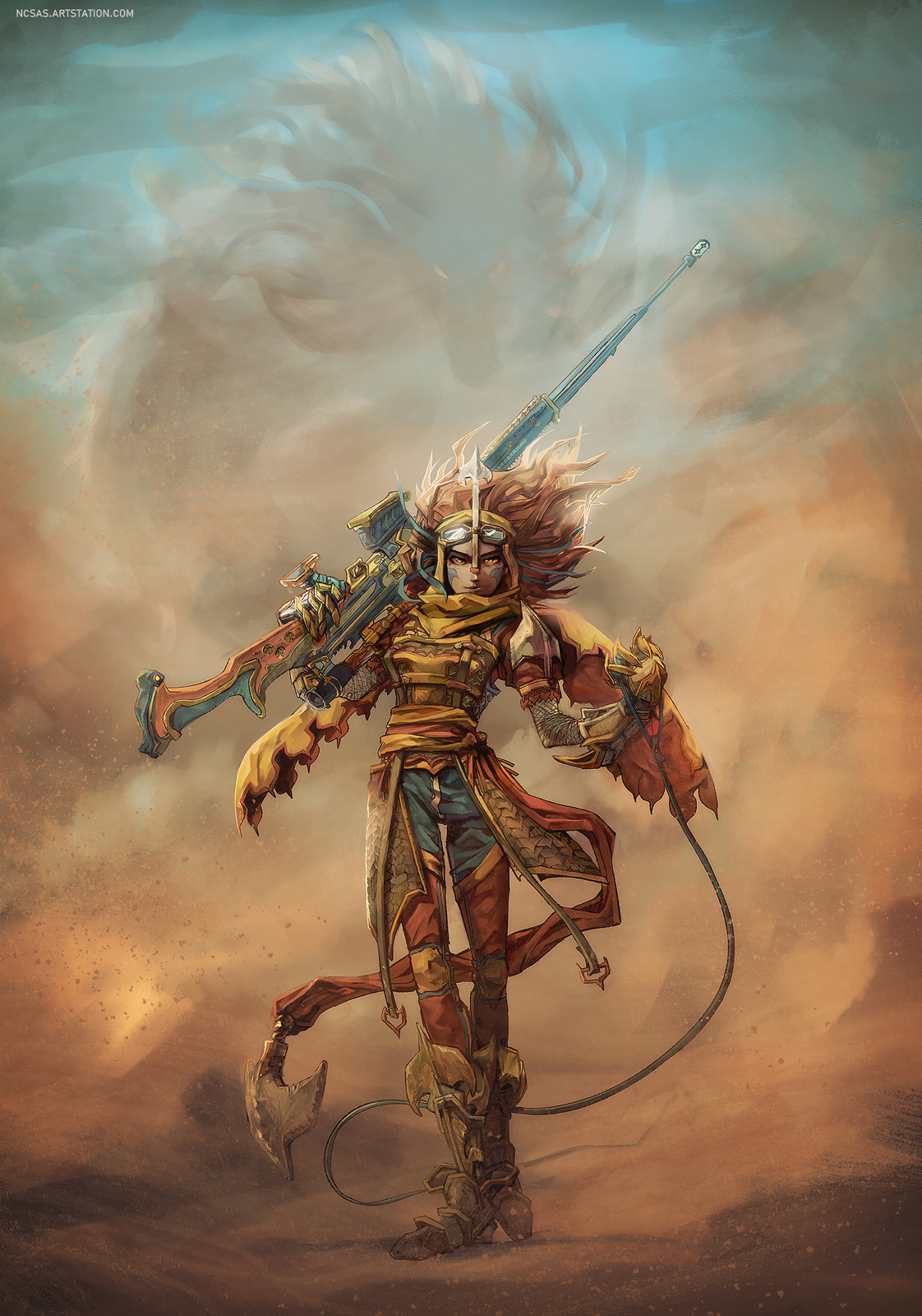 Desert Dragon Rider Character Concept