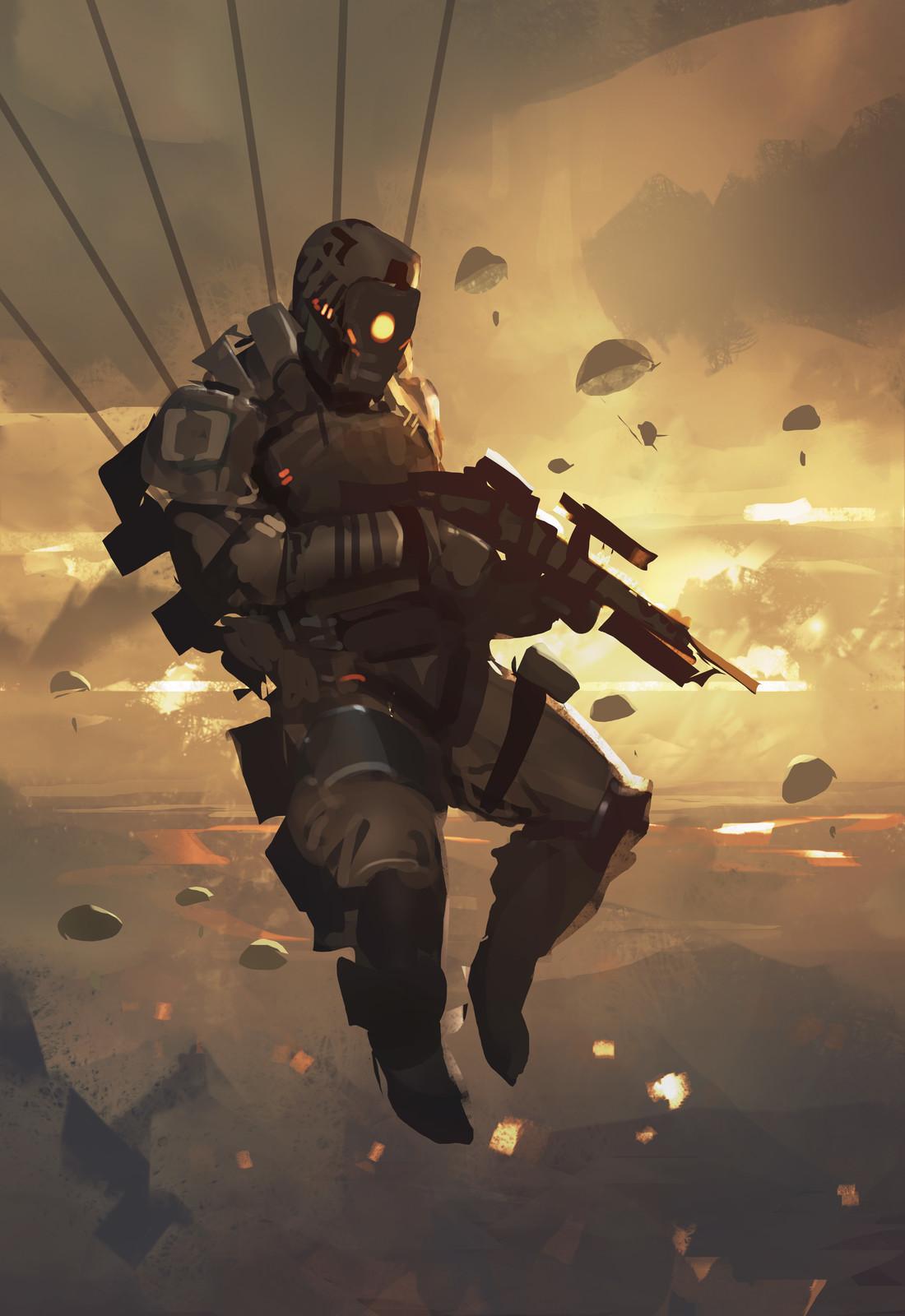 Speedpaint_Paratrooper