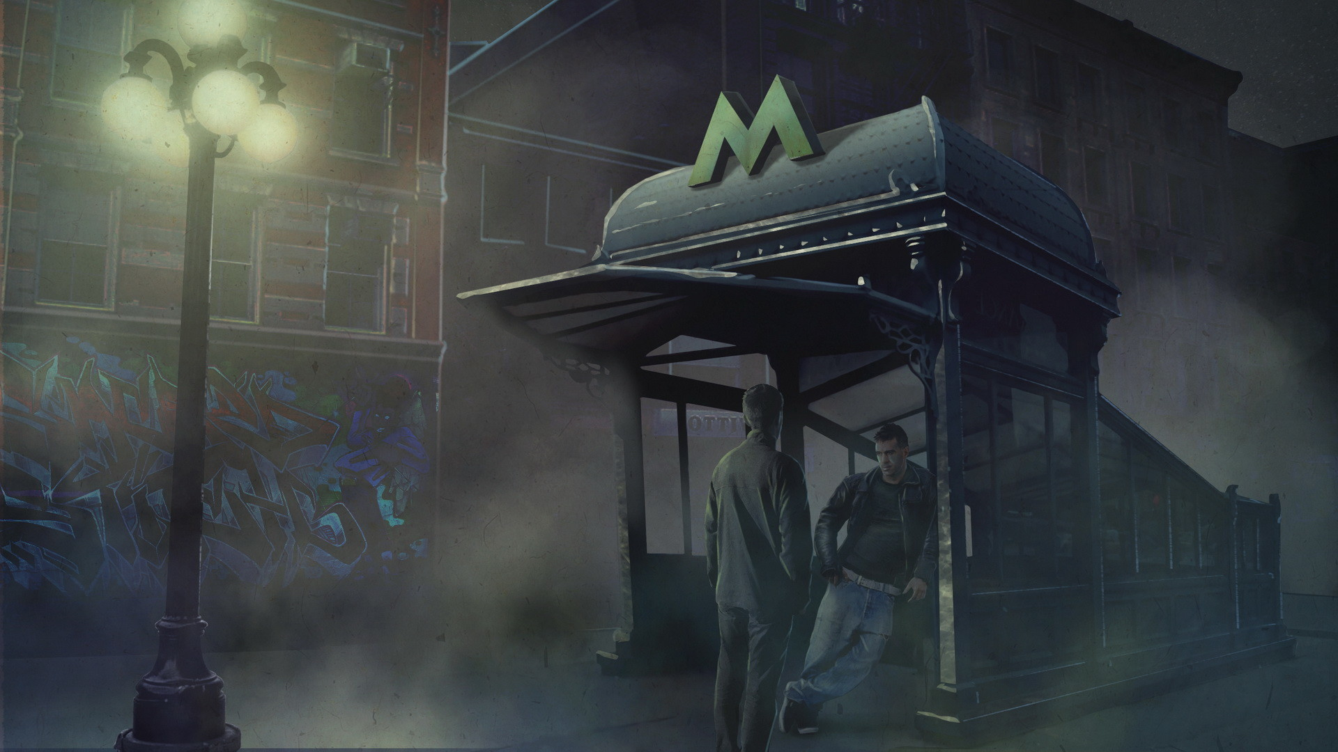 Scene 2 - Subway entrance