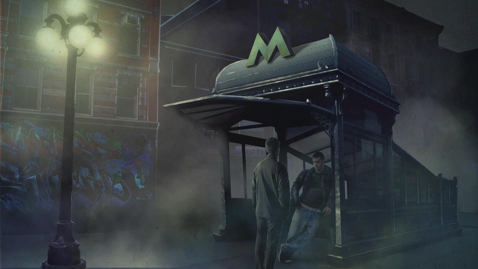 Scene 2 - Subway entrance